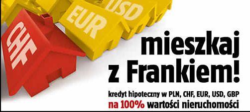 stara reklama kredytu we frankach