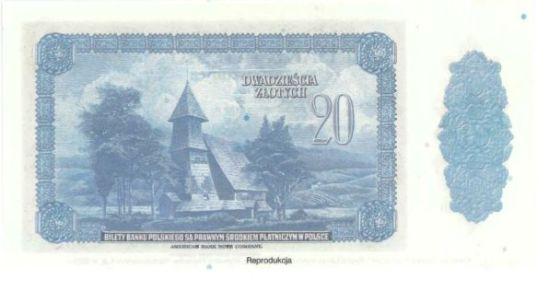 banknot 20 zł z 1939 reprint