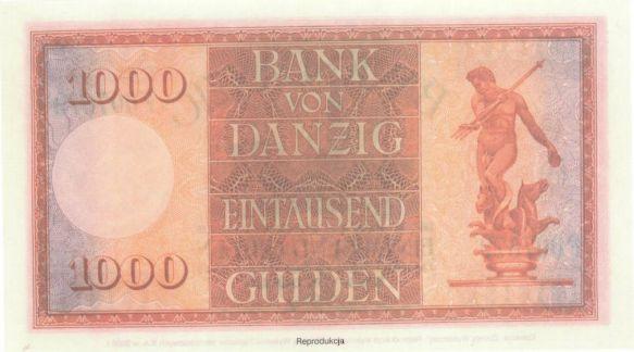 Tysiąc guldenów gdańskich; reprodukcja