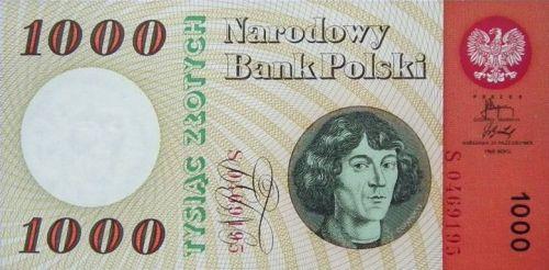 pierwszy banknot 1000 zł