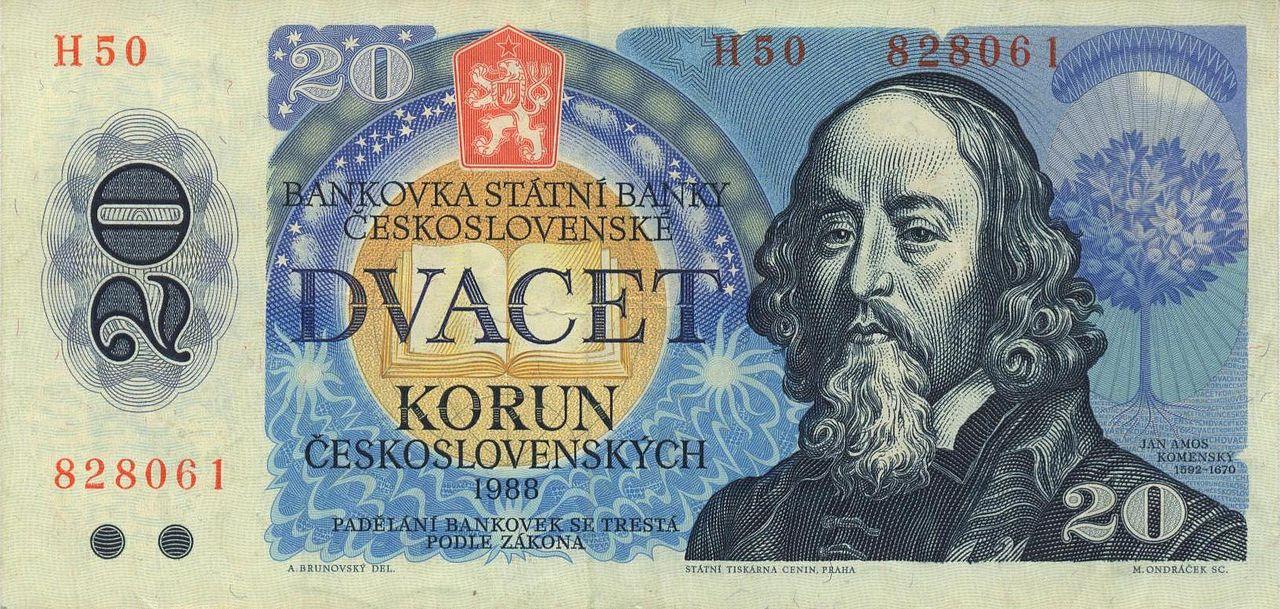 20 koron CSSR z 1988 roku