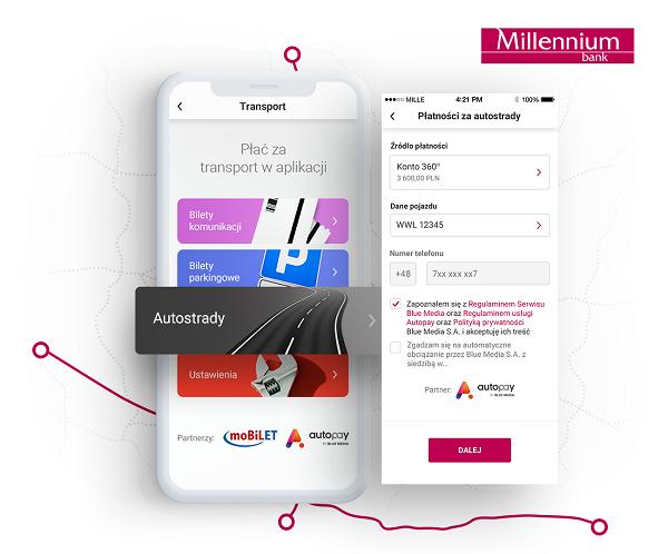 screen z aplikacji millennium