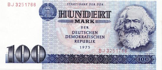 Awers banknotu 100 marek NRD