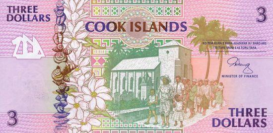 3 dolary z Wysp Cooka