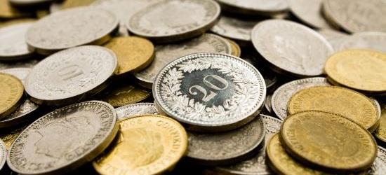 Monety szwajcarskie: franki i centymy