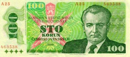 Banknot z Klementem Gottwaldem