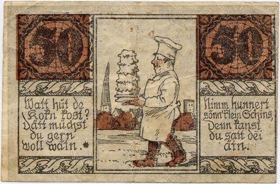 banknot z rysunkiem
