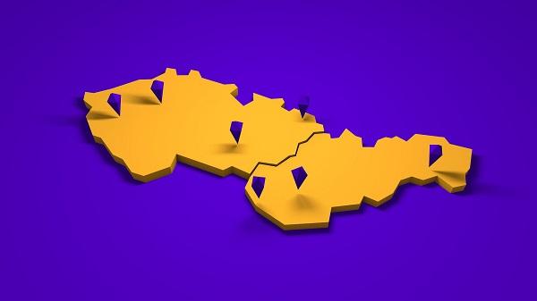 czechosłowacja kontur kraju